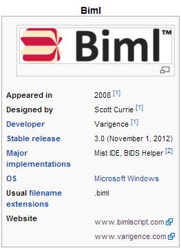 Biml Infobox